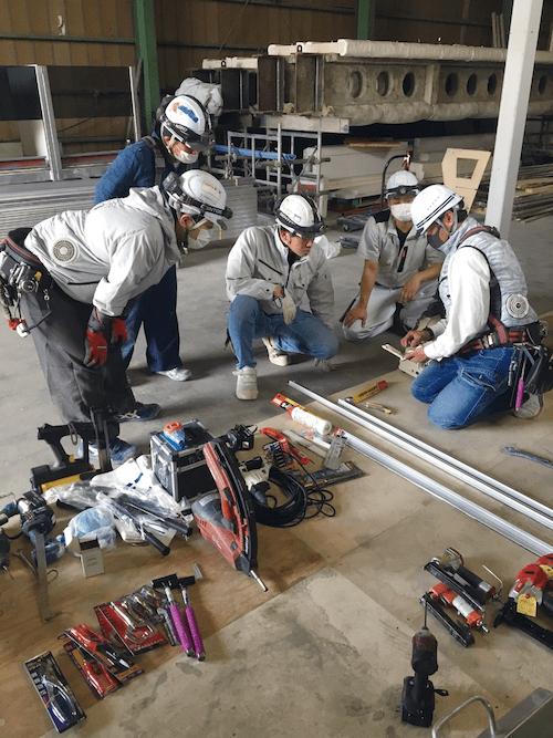 多能工を育てる鹿島フィットの研修施設